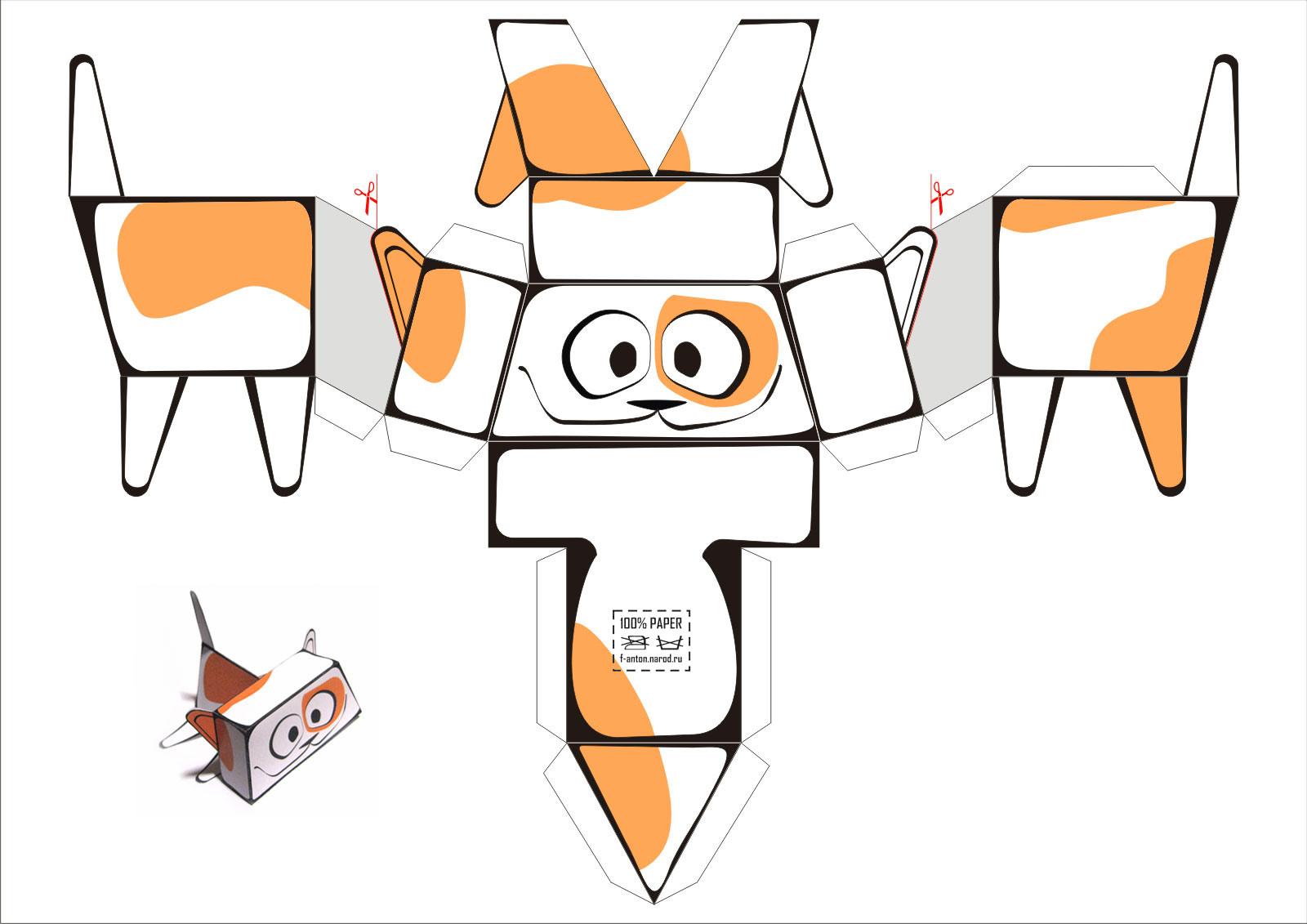 Как сделать из бумаги котенка? 31