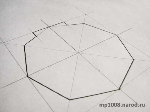 Для начала рисуем на бумаге чертеж основания будущего строения.